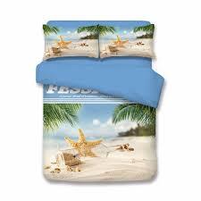 online shop 3d designer sea beach shell bedding sets blue sky