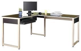 Black Glass L Shaped Desk Black Glass L Shaped Desk New Black Lake Point L Desk Tempered