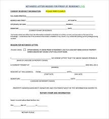 notarized letter template u2013 8 free word pdf documents download