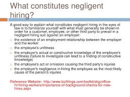 Explanation Letter Due To Negligence presentation negligent hiring due to lack of background checks