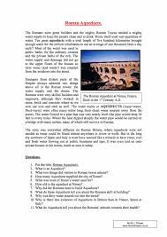 roman aqueducts facts u0026 information year 7 worksheet