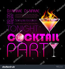 disco background cocktail party poster stock vector 213995083