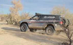 lifted lexus lx 570 baja 1000 in a lexus lx 570 behind the scenes truck trend