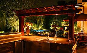 patio wet bar u2013 naturescape lighting