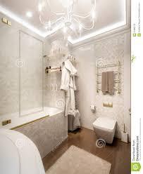 luxurious bathroom in classic style interior design stock
