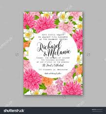 wedding flowers background wedding invitation or card with tropical floral background