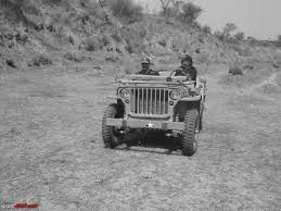 wwii jeep in action 1942 model willys mb team bhp
