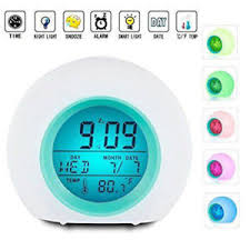 best light up alarm clock best alarm clock for kids wake up light premium digital display