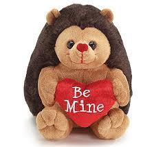 valentines day stuffed animals be mine brown plush moe hedgehog 7 5 s day heart