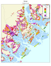 Georgia Counties Map More Sea Level Rise Maps Of Georgia