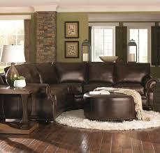 living room decor with brown leather sofa centerfieldbar com