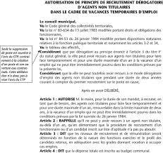 Annexe Iii Modèle D Arrêté Emportant Blâme Les Annexe Vi Modèle De Délibération Article 3 2 Vacance Temporaire