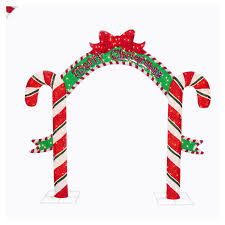 Candy Canes Lights Outdoor by Shop Holiday Living 8 U0027 Candy Cane Arch Outdoor Holiday Decoration
