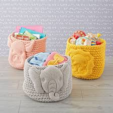 baby animal knit bin storage nursery inspiration and nursery