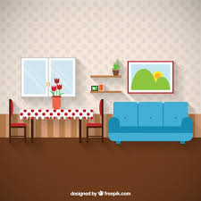 home interior vector living room furniture vector free