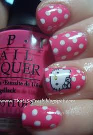 very cute hello kitty nails nails pinterest red white