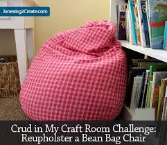 crud in my craft room challenge reupholster a bean bag chair