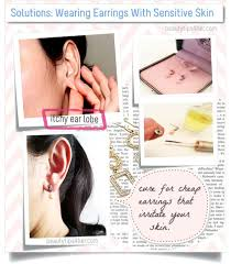 sensitive earrings best 25 sensitive ears ideas on ear peircings