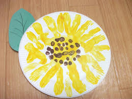 easy paper plate sunflower craft preschool education for kids