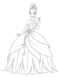 princess and the frog coloring pages to download and print for free