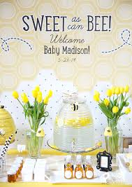how to create a cheerful sweet as can bee baby shower kate aspen