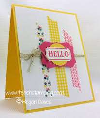How To Make Punch Cards - washi tape how to make a greeting card using washi tape from
