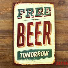 aliexpress com buy funny metal tin sign for bar pub wall decor