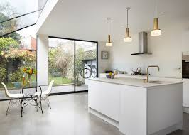 kitchens extensions designs rise design studio adds glass extension to london house glass