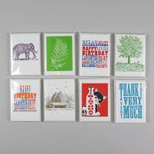 letter press pack of 6 letterpress cards black bough ludlow