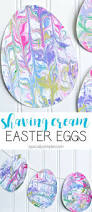 shaving cream marbled paper easter eggs egg crafts easter and egg