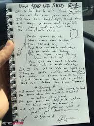 Bad Apple Lyrics Marc Scibilia Wrote Out His U0027how Bad We Need Each Other U0027 Lyrics