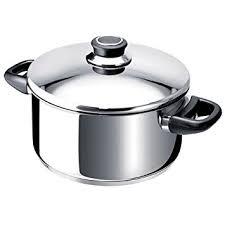 faitout et cuisine beka 12031244 polo faitout couvercle en acier inoxydable 24 cm