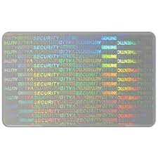 transparent holographic peel labels for pvc cards exporter from
