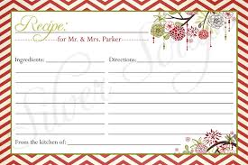 christmas recipe cards christmas lights card and decore
