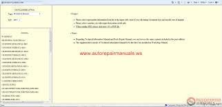 mitsubishi outlander 2011 workshop manual auto repair manual
