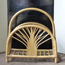 meubles en bambou porte revues vintage en bambou lignedebrocante brocante en ligne