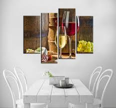 painting for kitchen modular wall paintings barrels wine glass custom print poster oil