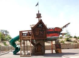 Pirate Ship Backyard Playset by Fun Rooms Unique Pirate Ship Shaped Kids Play Area Outdoor