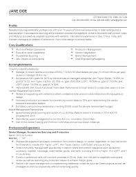 retail management resume examples and samples experience resume for production engineer free resume example resume templates senior production manager