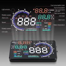 nissan pathfinder fuel consumption a8 5 5 u0026 034 car hud head up display obd2 obdii auto gauge speed