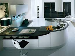 living amazing modular kitchen design ideas with curved shape