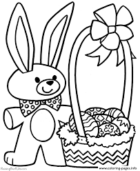 easter bunny basket coloring pages printable