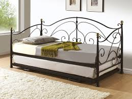 White Metal Daybed With Trundle Florence White Metal Daybed With Trundle Design Ideas