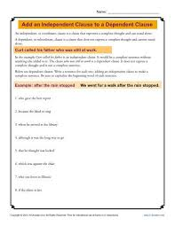 dependent clause worksheet free worksheets library download and