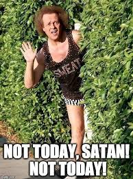 Not Today Meme - not today satan richard simmons meme stickers by akl85ky redbubble