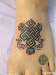 Buddhist Flower Tattoo - 15 endless knot flowers tattoos