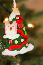 felt owl u0026 tree ornament imagine our life