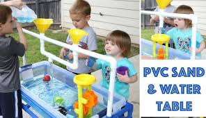 diy sand and water table pvc water tables for kids diy pvc pipe sand and water fun crafting news