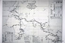 South African Airways Route Map by Imperial Airways Route From Britain To Australia And South Africa