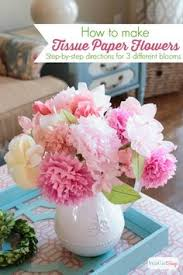obsessed with these tissue paper bouquets in place of flowers so